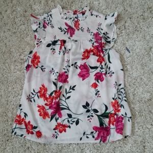 Old Navy floral ruffle sleeve blouse